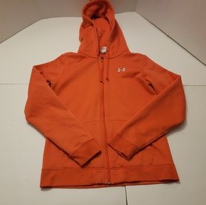 Under Armour Orange Womens Hoodie Medium